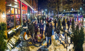 Brite Winter on patio with firepite - courtesy Robert Muller Photographer for BriteWinter