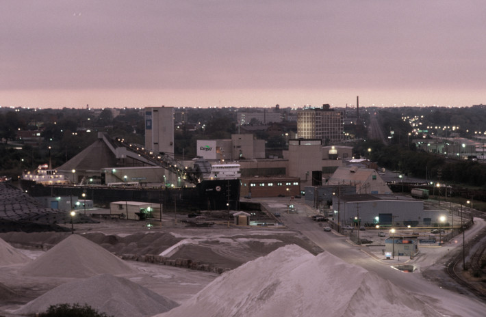 Cargill Salt Mine in CLE at Dusk