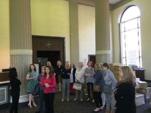 EA staff inside former bank bldg at Goodyear hdqtrs