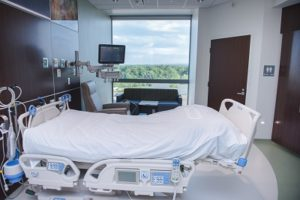 private room in the CPP unit - photo courtesy MetroHealth Medical Center