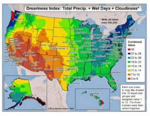 US Dreary Index Map