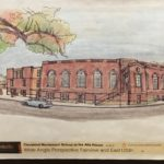 Cleveland Montessori at the Alta House. Fairview and 125th. Drawing courtesy of Cleveland Montessori.