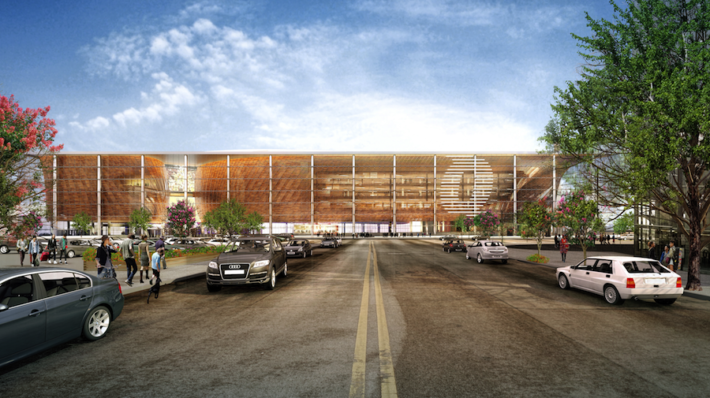 The view of the new arena from the north.
